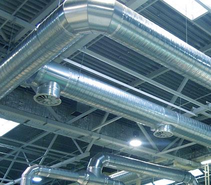 Монтаж теплоизоляции воздуховодов и вентоборудования