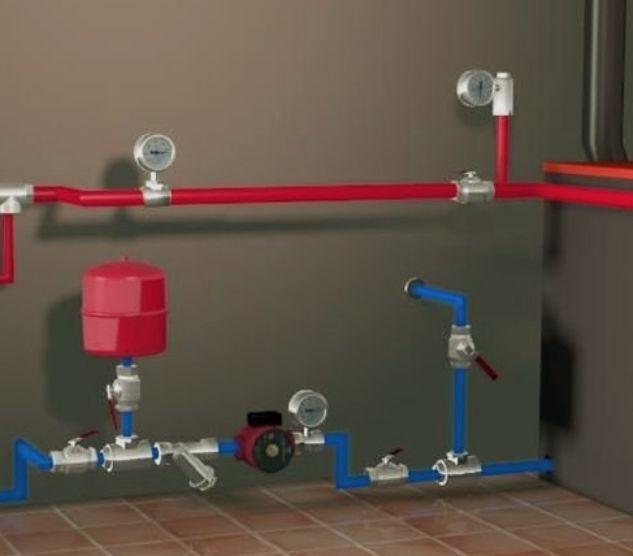 Монтаж открытых систем отопления